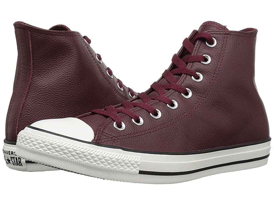 Converse Chuck Taylor All Star - Leather Hi (Dark Burgundy/Dark Burgundy/Egret) Shoes