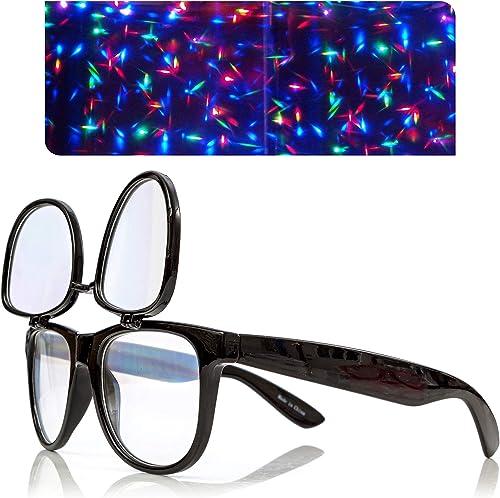 new arrival Premium Double popular Diffraction Glasses, Ideal for online Raves, Festivals outlet online sale