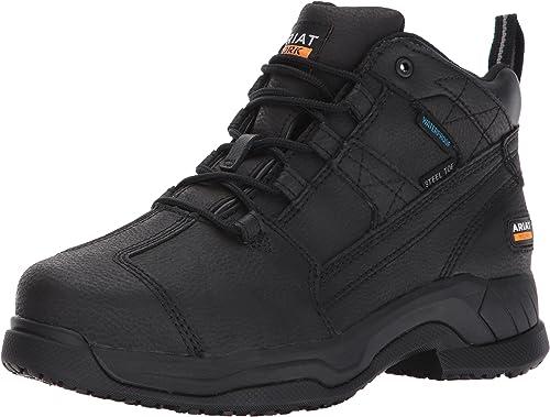 Ariat - Chaussures de Sport de Travail Contender H2O Steel Toe pour Femme, 38.5 W EU, Matte noir