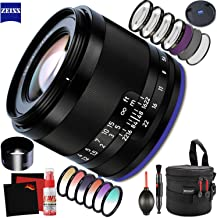 Zeiss Loxia 50mm f/2 Lens for Sony E with FLD Filter, CPL Filter, UV Filter - Color Graduate Filter Kit - Close Up Filter Kit and Cleaning Accessories Bundle