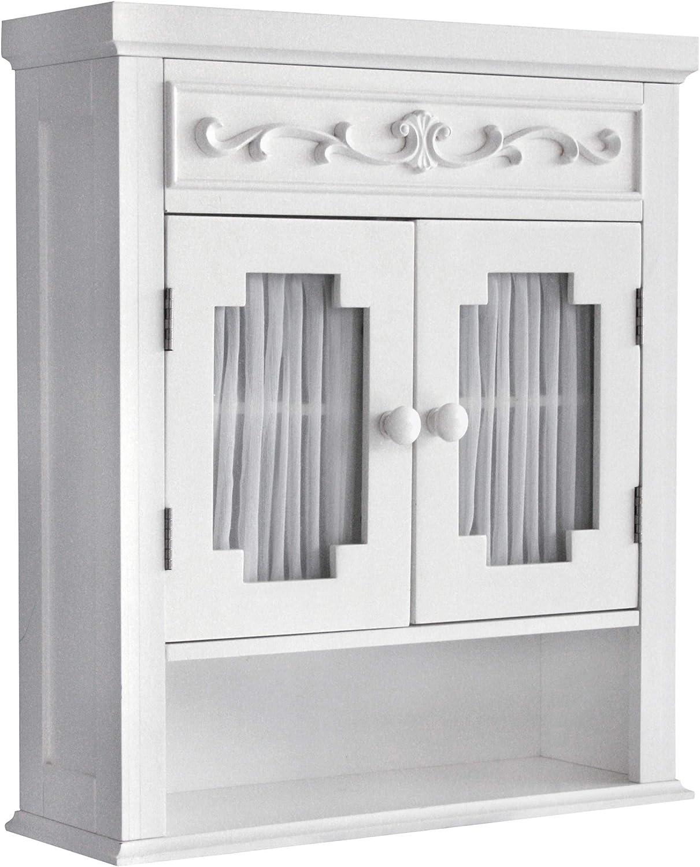 Popular brand Elegant Home Max 63% OFF Fashions Lisbon White Wall Cabinet