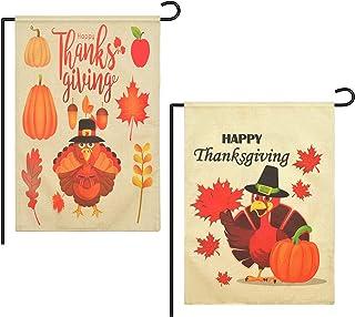 Cozysmart Thanksgiving Garden Flags,12 Inch x18 Inch Thanksgiving Flag,Garden House Flags,Thanksgiving Yard Decorations Ho...