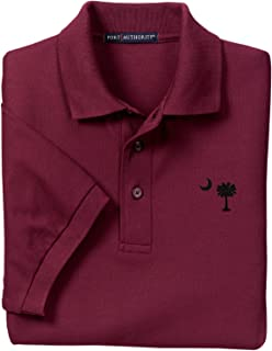Burgundy Garnett Embroidered Palmetto Moon Polo Shirt