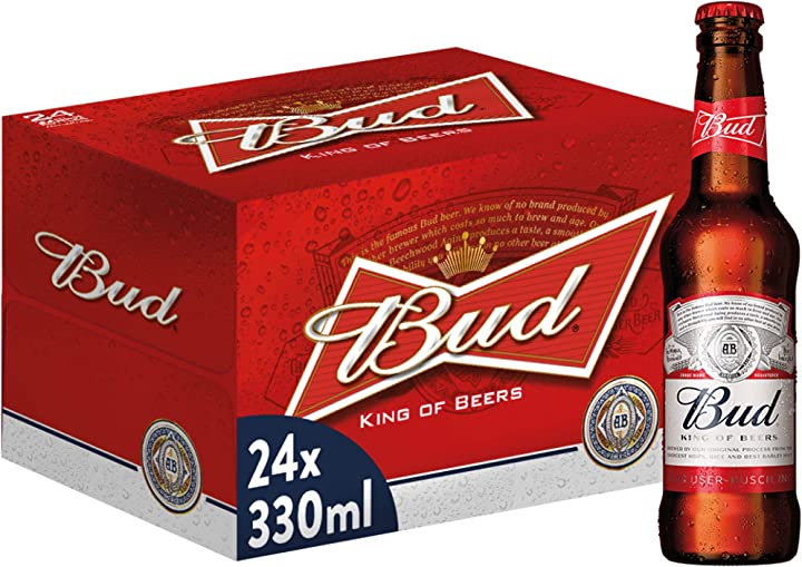 Birra bud bottiglia - pacco da 24 x 330 ml B086RF8NX1