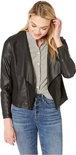 Stretch Faux Leather Jacket KS2K2314