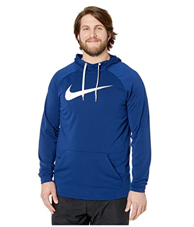 Nike Big Tall Dry Hoodie Pullover Swoosh (Blue Void/White) Men