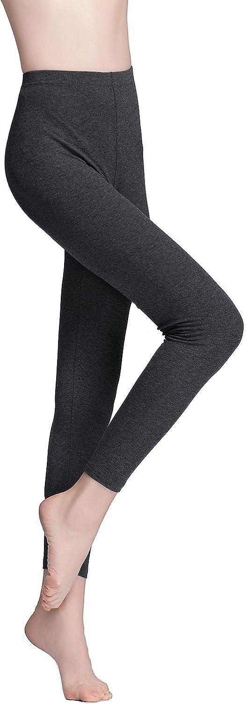 Vinconie Knöchellang Leggings Damen Unterrock Hose Winterleggings Jogginghose 1 Pack Dunkelgrau