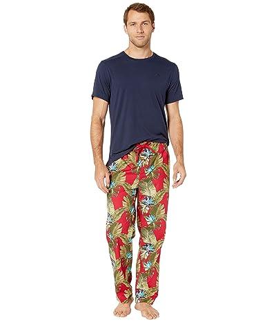 Tommy Bahama Hawaiian Short Sleeve Woven PJ Set (Hawaiian Floral) Men