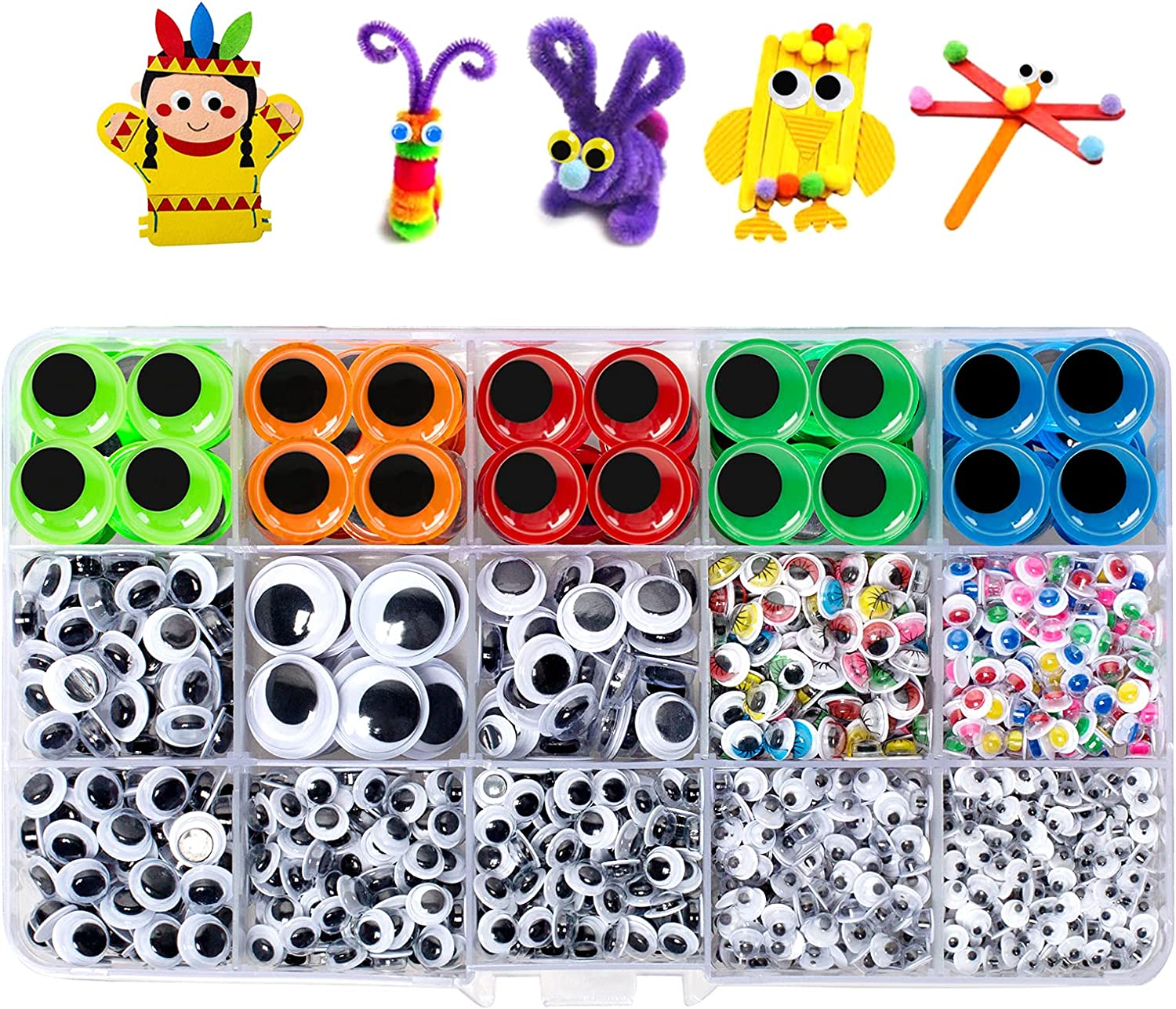 Large-scale sale 1510pcs Googly Eyes Self Adhesive Manufacturer regenerated product Sticker for Craft Wigg Crafts