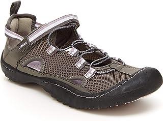 JSport by Jambu womens Jaguar Mesh Sneaker, Dark Grey/Orchid, 6 US