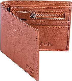 Dezire Crafts Men Formal, Casual Artificial Leather Wallet (Tan)