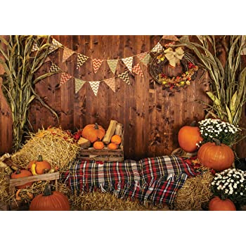 Halloween Backgrounds Photography Pumpkins Bread Baby Toys Wood Planks Board Party Pattern Photo Backdrop Photocall Photo Studio