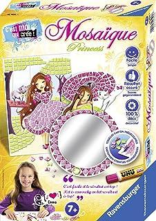 Ravensburger - Mini coffret Mosaïque - Thème Princesses - 2 modèles - Loisir créatif - Kit d'activités enfants à partir de...