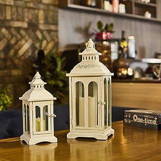 Ninganju Moroccan Style Large Decorative Lantern Beige Temple Hanging Lanterns Waterproof Lantern for Indoor, Outdoor Pati...