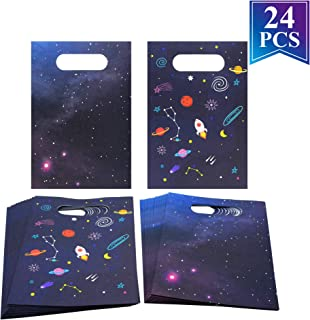 Outer Space Party Favors Treat Bags Galaxy Planets Rocket Design Kids Birthday Party Favor Candy Cookie Goodie Paper Bags