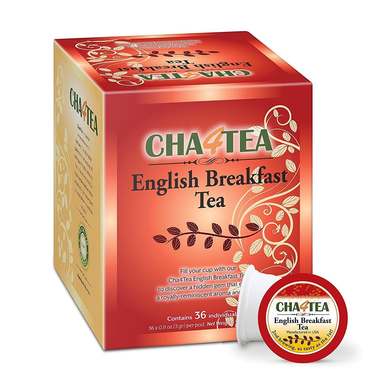 Max 49% OFF Cha4TEA 36-Count English Breakfast Tea for K-Cup Keurig Max 48% OFF