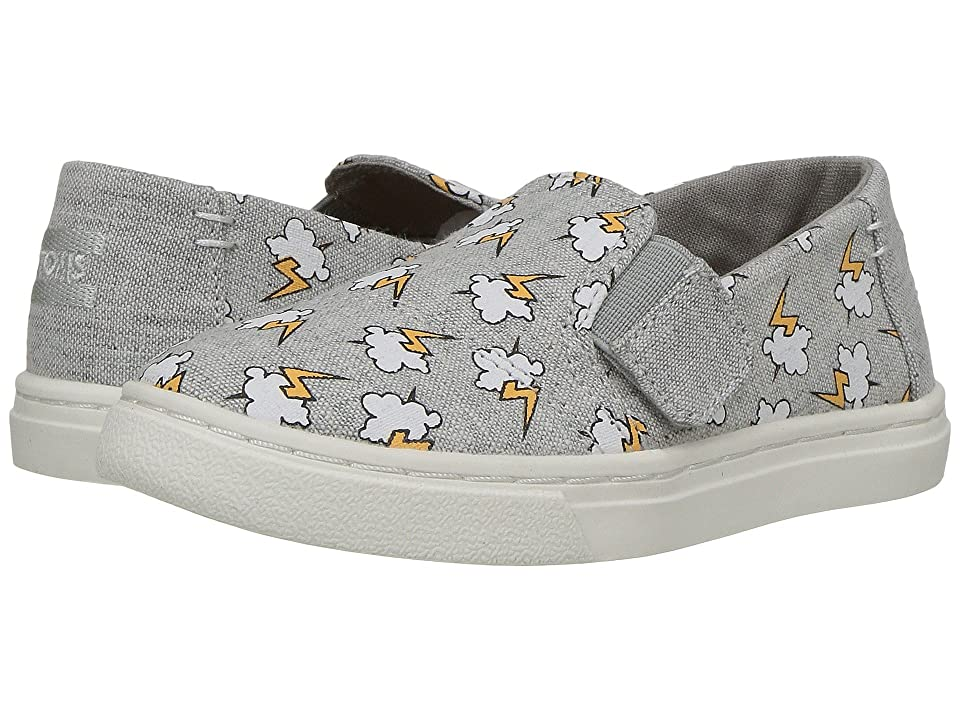 TOMS Kids Luca (Infant/Toddler/Little Kid) (Drizzle Grey Lightning Bolt) Kid