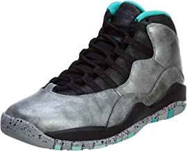Nike Mens Air Jordan 10 Retro 30th Lady Liberty Dust/Metallic Gold-Black-Retro Leather Size 13 Basketball Shoes