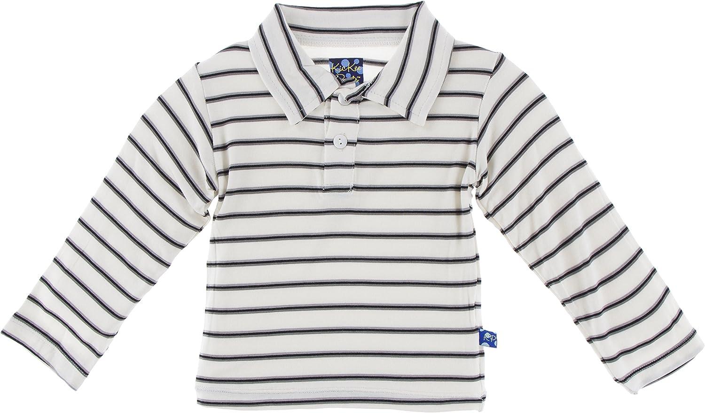 Kickee Pants Little Boys Print Long Sleeve Double Layer Polo