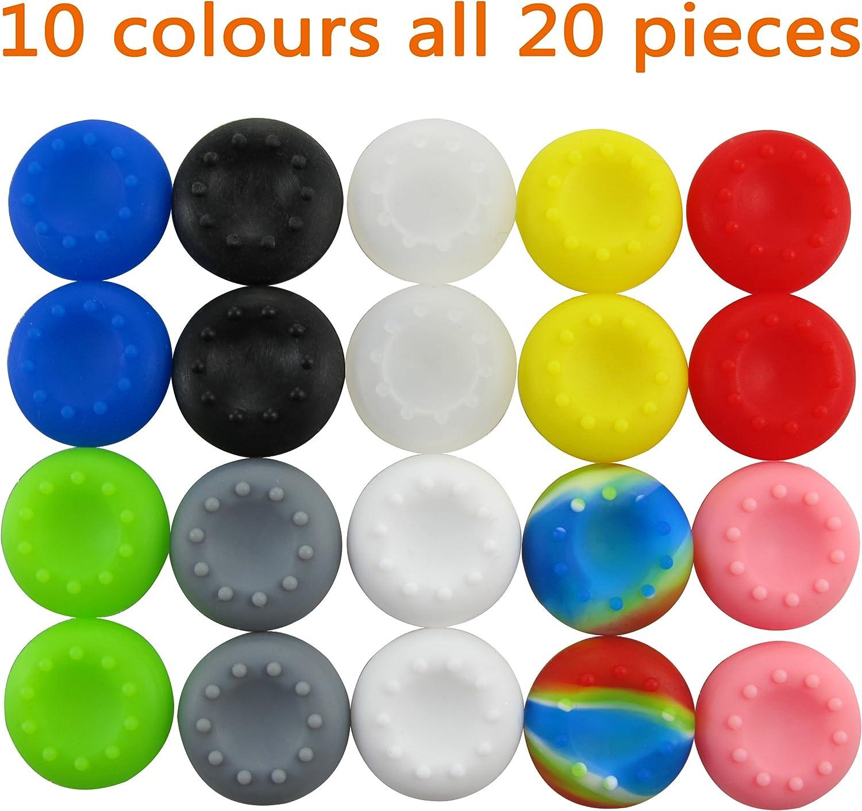 Pandaren pulgar agarre palo thumb grip caps 10 juegos Pack para PS2, PS3, PS4, Xbox 360, Xbox One, Wii U, Switch PRO Mando