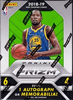 2018 2019 PRIZM NBA Basketball Series Unopened Blaster Box Made By Panini with 1 Autograph or Memorabilia Card Plus 3 Prizms Per Box on Average