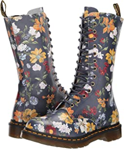 DMS Navy Darcy Floral Backhand Straw Grain