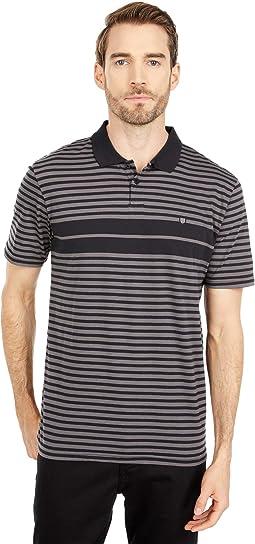 Shield Stripe Short Sleeve Polo X Knit