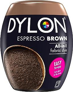 Dylon Teinture Textile pour Machine à Laver, Marron expresso, 8.5 x 8.5 x 9.9 cm
