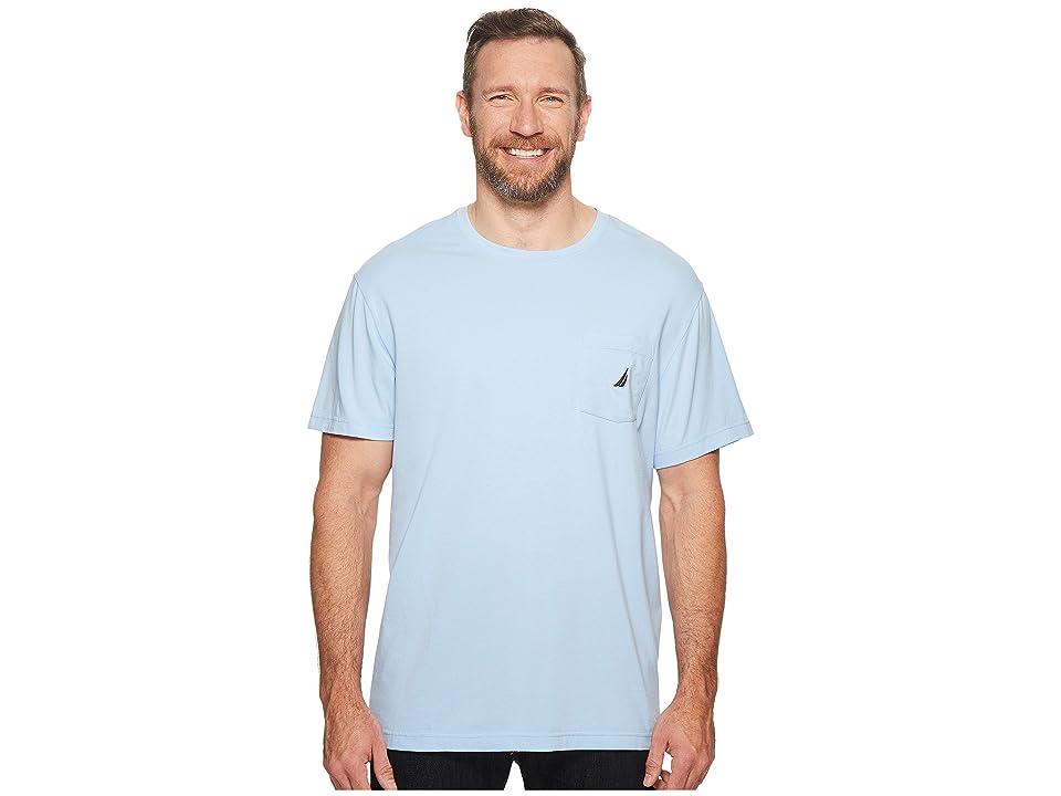 Nautica Big & Tall Big Tall Short Sleeve Anchor Pocket Tee (Noon Blue) Men