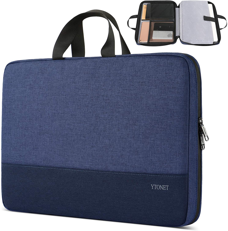 Laptop Sleeve Case, 13.3 inch TSA Slim Laptop Case, Durable Business Briefcase Water Resistant Laptop Case for 13-13.3 inch MacBook Pro, MacBook Air, HP Dell Lenovo Notebook, Dark Blue