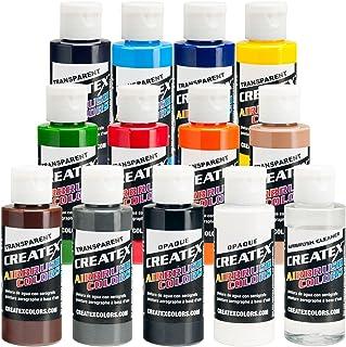Transparent 12 CREATEX Airbrush Paint Colors Set