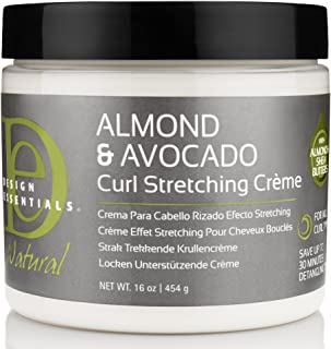 Design Essentials Natural Almond & Avocado Curl Stretching Cream For All Curl Types - 16 Oz