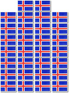 Fiomia Iceland National Flag Sticker World Cup Temporary Tattoo Face Decal Body Glitter Country Flag Waterproof Removable 30Pcs
