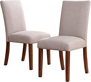 Dorel Living Linen Chairs, Taupe, Set of 2