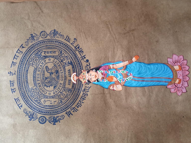 Indian Goddess Detroit Mall Lakshmi Religious Miniature Direct store Painting Art Handmade