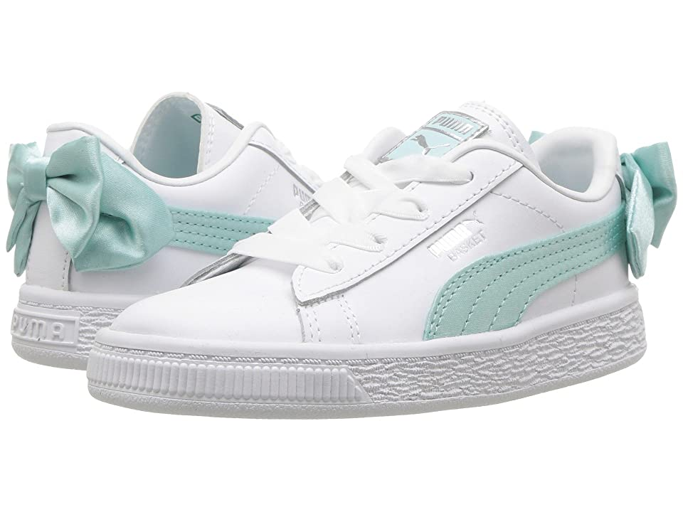 Puma Kids Basket Bow AC INF (Toddler) (Island Paradise) Girls Shoes