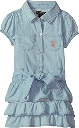 Tiered Ruffle Woven Dress (Little Kids)