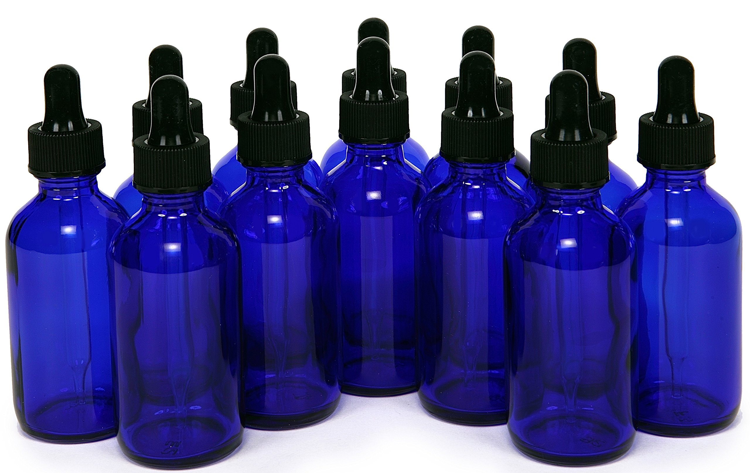 Cobalt Blue Glass Bottles Droppers