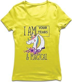 lepni.me Camiseta Mujer Soy un Regalo de cumpleaños mágico de Unicornio de los años de Costumbre
