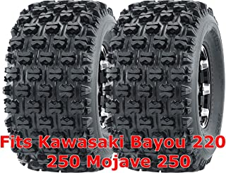 Set 2 WANDA ATV Tires 22x10-10 fit for Kawasaki Bayou 220 250 Mojave 250 Rear GNCC Race