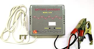 DigiTronix- CAR Bike Battery Charger/Lead Acid Battery 12V Charger with Digital Display - D3A_DA