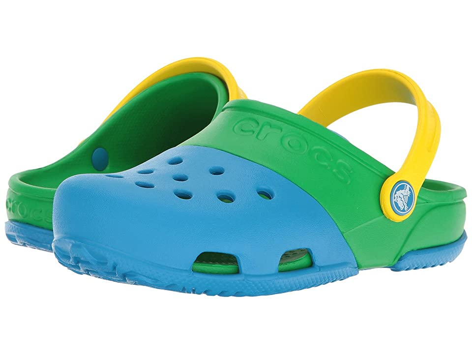 Crocs Kids Crocs Kids Electro II Clog (Toddler/Little Kid) (Ocean/Grass Green) Kids Shoes