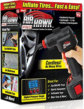 ONTEL Air Hawk Pro Automatic Cordless Tire Inflator Portable Air Compressor, Easy to Read Digital