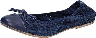 Crown Ballerine Donna Tessuto Blu