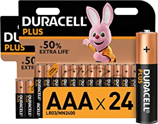 Duracell Plus AAA Alkaline Batteries [Pack of 24], 1,5 Volts LR03 MN2400 [Amazon exclusive]