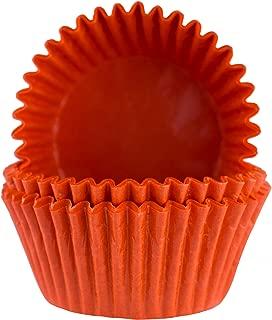 Glassine Baking Cups. Cupcake Liners, Standard Size, Pack of 50 (Orange)