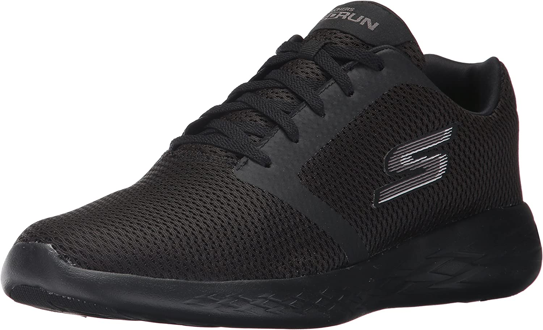 Skechers Men's Go Run 600-Refine Fitness shoes, Black (Black), 6.5 UK