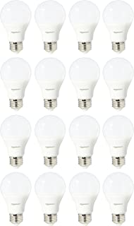 AmazonBasics 60 Watt Equivalent, Soft White, Non-Dimmable, A19 LED Light Bulb | 16-Pack