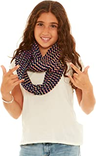 Crush Girls Ribbed Knit Loop Infinity Scarf