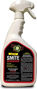 Supreme Growers Smite Spider Mite Killer, All Natural Pesticide, Non-Toxic, Biodegradable, Organic Eco Friendly Pest Control (32oz Ready to Use Spray Bottle)